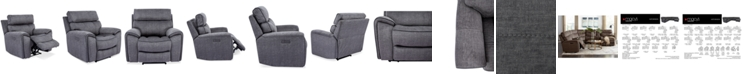 "Furniture Hutchenson 43"" Fabric Power Recliner"