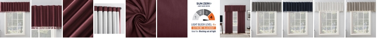 "Sun Zero Evelina 50"" x 17"" Faux Silk Beaded Thermal Blackout Valance"