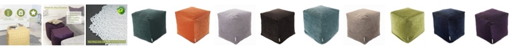 "Majestic Home Goods Villa Ottoman Pouf Cube 17"" x 17"""