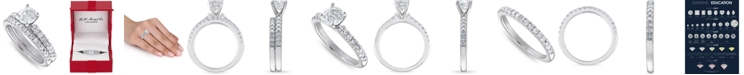 Macy's IGI Certified Diamond (1-1/2 ct. t.w.) Bridal Set in 14K White, Yellow or Rose Gold