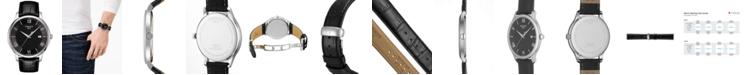 Tissot Men's Swiss Tradition Black Leather Strap Watch 42mm T0636101605800