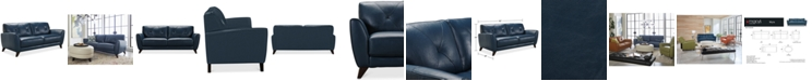 "Furniture Myia 82"" Leather Sofa, Created for Macy's"