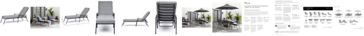 Furniture Vintage II Outdoor Chaise Lounge With Sunbrella® Cushion, Created for Macy's