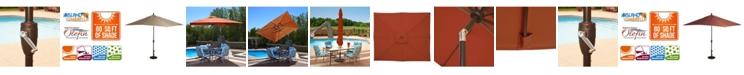 Blue Wave Caspian 8-Ft X 10-Ft Rectangular Market Umbrella - Olefin Canopy