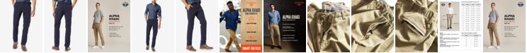 Dockers Men's Alpha Smart 360 Flex Slim Tapered Fit Khaki Stretch Pants