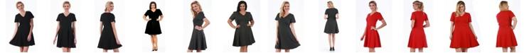 Instant Figure Lamonir Short V-Neck Dress