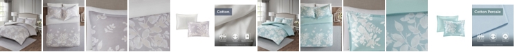 JLA Home Madison Park Marian Full/Queen 3 Piece Cotton Printed Duvet Cover Set