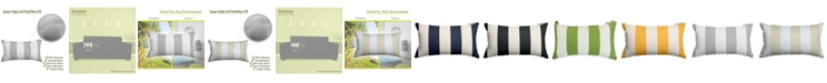 """Majestic Home Goods Vertical Stripe Decorative Soft Throw Pillow Small 20"""" x 12"""""""