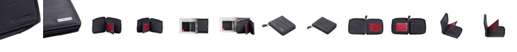 CHAMPS Leather RFID Zip-Around Wallet in Gift Box
