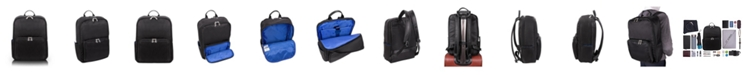 "McKlein Transport 15"" Nano Tech-Light Nylon Dual-Compartment Laptop & Tablet Backpack"