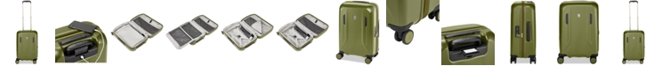 """Victorinox Swiss Army CLOSEOUT! VX Avenue 22"""" Frequent Flyer Hardside Carry-On Suitcase in Olive"""