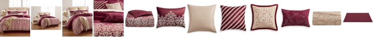 Martha Stewart Collection  CLOSEOUT! Antique Damask Reversible 220-Thread Count 14-Pc. Comforter Sets, Created for Macy's