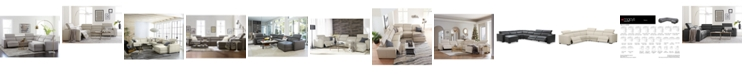Furniture Nevio Leather Power Reclining Sectional Sofa with Articulating Headrests Collection, Created for Macy's