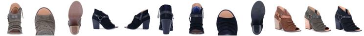 Dingo Women's Spurs Leather Peep Toe Bootie