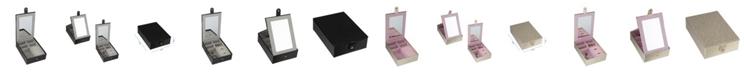 Ruby + Cash Multi Compartment Jewelry Organizer Box with Vanity Mirror