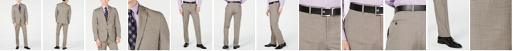 Van Heusen Men's Slim-Fit Flex Stretch Wrinkle-Resistant Light Brown Tic Suit