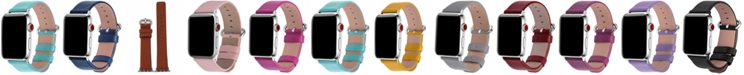 Nimitec Women's Solid Color Leather Apple Watch Strap 38mm