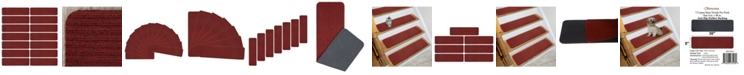 """Ottomanson Scrape Rib Design Non-Slip Stair Tread, Pack of 13, 8"""" x 30"""""""