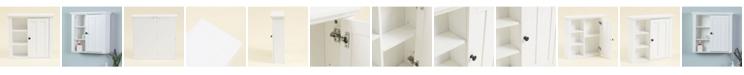 Luxen Home Bathroom Wall Storage Cabinet
