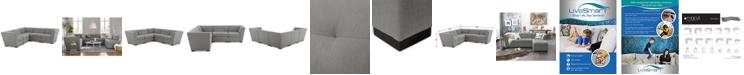 "Furniture Roxanne II Performance Fabric 5-Pc. ""L"" Modular Sofa, Created for Macy's"