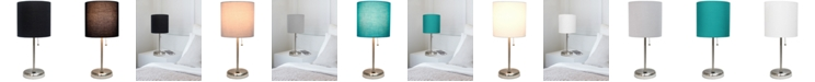 LimeLights Lime Lights Stick Lamp with USB charging port and Fabric Shade