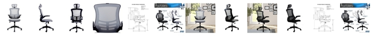 RTA Products Techni Mobili Modern High-Back Mesh Executive Office Chair