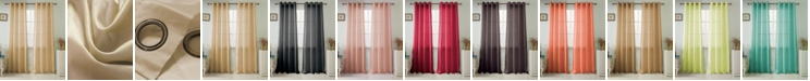 """RT Designers Collection Nancy 54"""" x 84"""" Faux Silk Curtain Panel"""