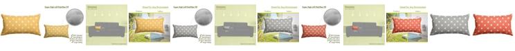 "Majestic Home Goods Ikat Dot Decorative Soft Throw Pillow Small 20"" x 12"""