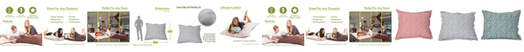 """Majestic Home Goods Charlie Comfortable Soft Floor Pillow Extra Large 54"""" x 22"""""""