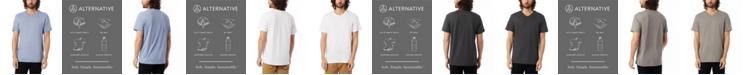Alternative Apparel Men's Weathered Slub Keeper V-neck T-shirt