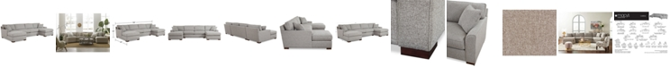 Furniture CLOSEOUT! Carena 3-Pc. Fabric Sectional Sofa with Double Chaise, Created for Macy's