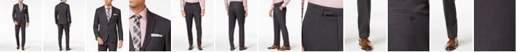 Kenneth Cole Reaction Men's Slim-Fit Techni-Cole Stretch Black Pin-Dot Suit
