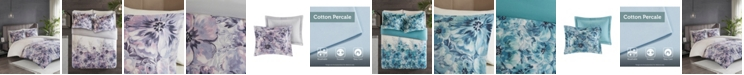 JLA Home Madison Park Enza Full/Queen 3 Piece Cotton Printed Duvet Cover Set