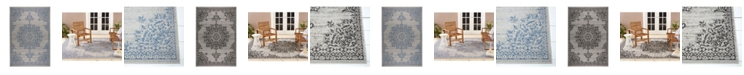Nicole Miller  Patio Country Azalea Gray Area Rug Collection