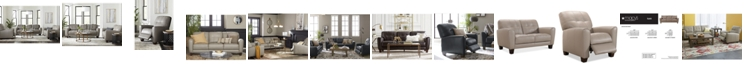 Furniture Kaleb Tufted Leather Sofa Collection, Created for Macy's