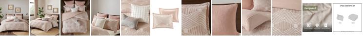 INK+IVY Ellipse King/California King 3 Piece Cotton Jacquard Comforter Set
