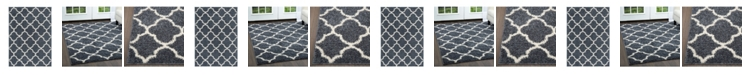 Nicole Miller  Synergy Elm Shag Blue Area Rug Collection