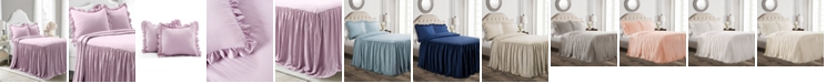 Lush Decor Ruffle Skirt 3-Piece Full Bedspread Set