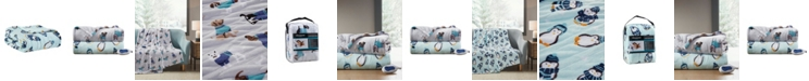 """Beautyrest Oversized Plush Novelty Printed Electric Throw, 60"""" x 70"""""""