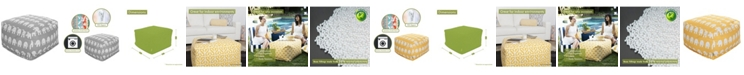 "Majestic Home Goods Ellie Ottoman Square Pouf 27"" x 17"""