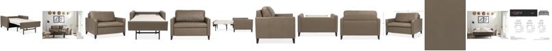 """Furniture Priley 48"""" Leather Twin Sleeper Sofa"""