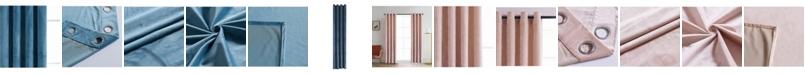 "Lyndale Decor Regency Velvet Room Darkening Curtain, 95"" L x 52"" W"