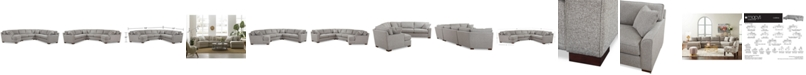 Furniture CLOSEOUT! Carena 4-Pc. Fabric Sectional Sofa with Armless Loveseat and Cuddler Chaise, Created for Macy's