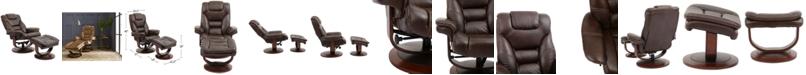 Furniture Faringdon Leather Euro Chair & Ottoman