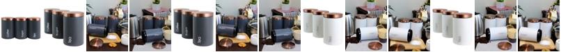 MegaChef Essential Kitchen Storage 3 Piece Sugar, Coffee and Tea Canister Set