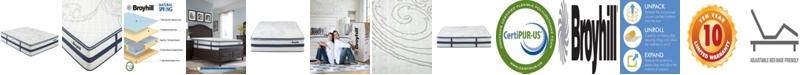 "Broyhill 13"" King Gloster Euro Sapphire Cooling Gel Memory Foam Hybrid Innerspring Mattress"