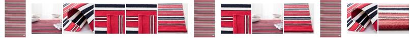 Lauren Ralph Lauren Leopold Stripe LRL2462E Red Area Rug Collection
