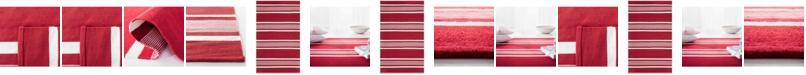 Lauren Ralph Lauren  Hanover Stripe LRL2461D Red Area Rug Collection