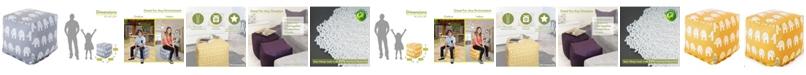 "Majestic Home Goods Ellie Ottoman Pouf Cube 17"" x 17"""