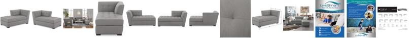 Furniture Roxanne II Performance Fabric Modular Chaise, Created for Macy's